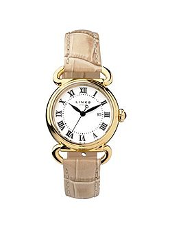 Driver round womenstan leather watch