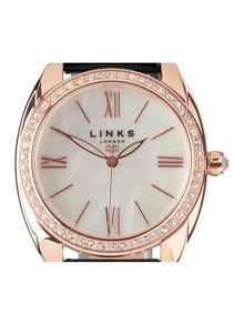 Links of London Bloomsbury black crystal watch