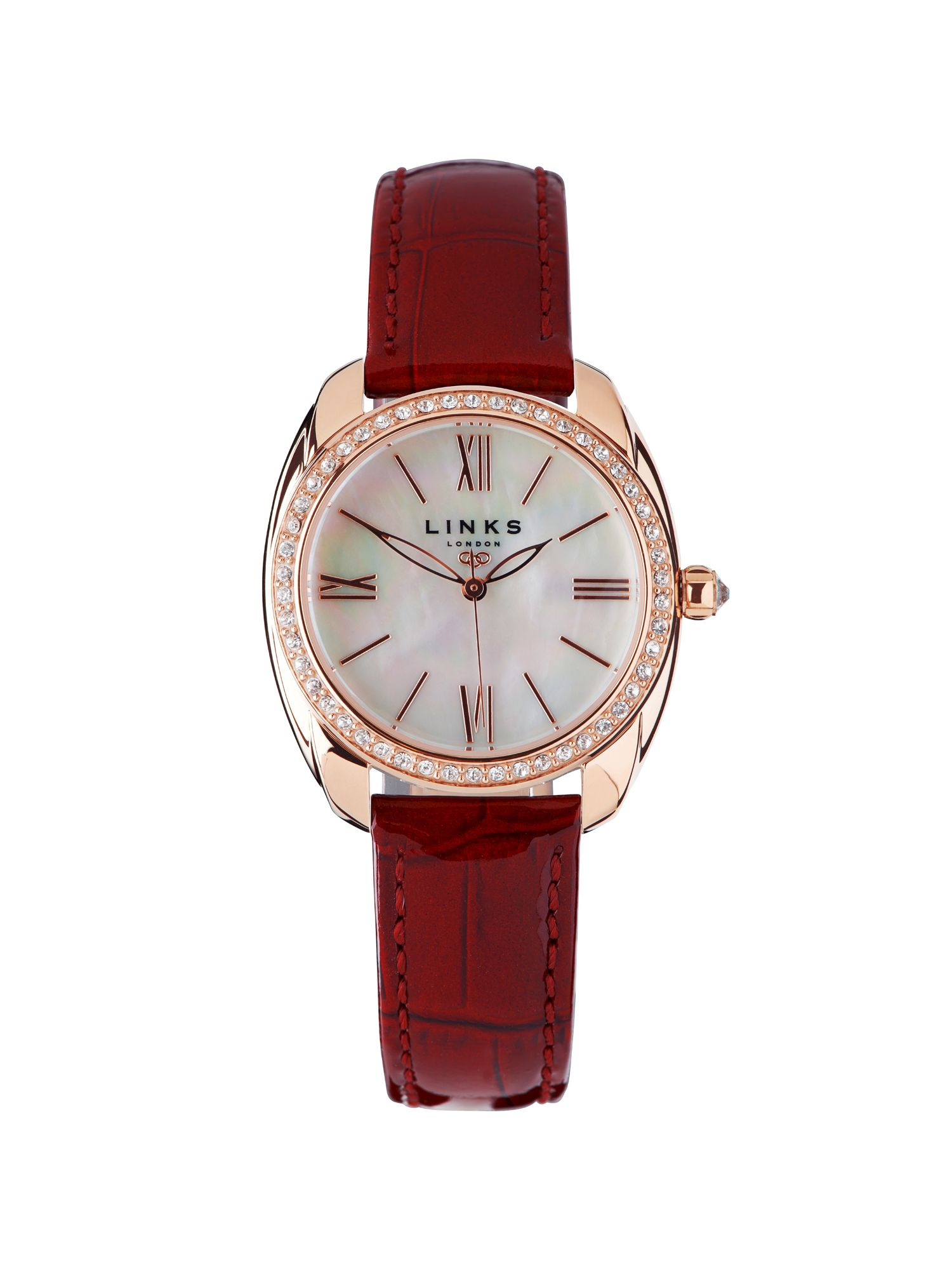 Bloomsbury red crystal watch