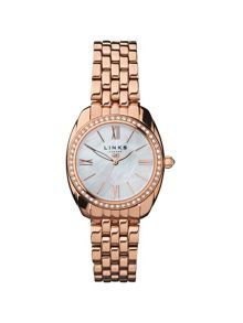 Links of London Bloomsbury rose gold & crystal watch