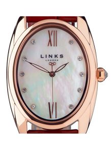 Links of London Bloomsbury Oval Purple Watch