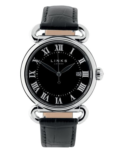 Links of London Driver Large Black Watch