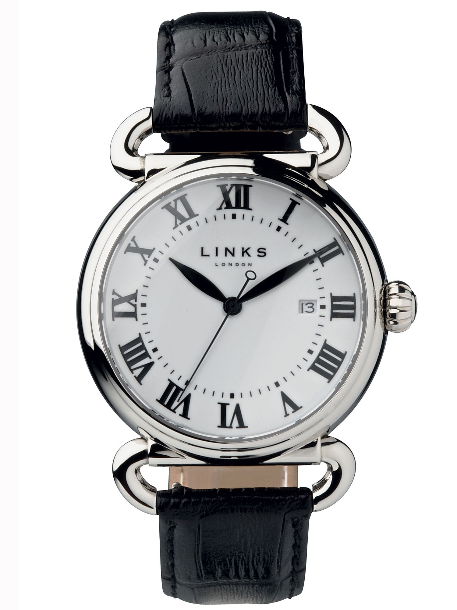 Links of London Driver large white watch, White