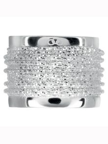 Celeste wide wrap silver ring