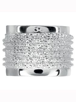 Links of London Celeste wide wrap silver ring