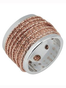 Links of London Celeste wide wrap rose gold ring