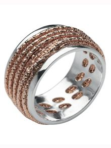 Links of London Celeste rose gold wrap ring