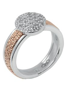 Links of London Celeste Pave Rose Gold Ring