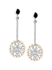 Dream catcher stiletto rose gold earrings