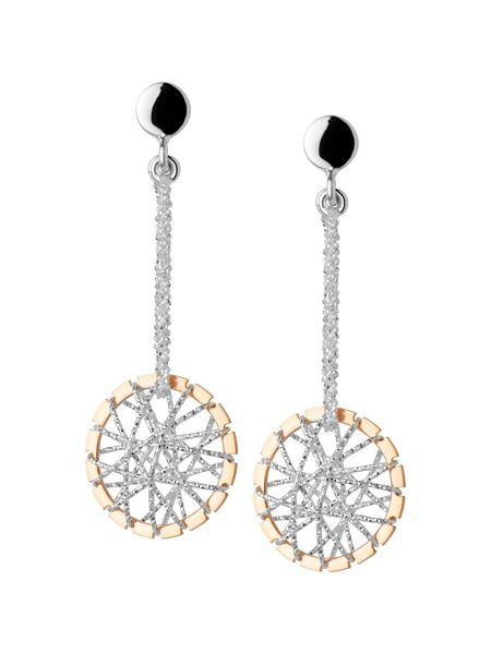 Links of London Dream catcher stiletto rose gold earrings