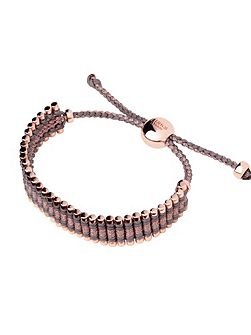 Taupe & Copper Friendship Bracelet