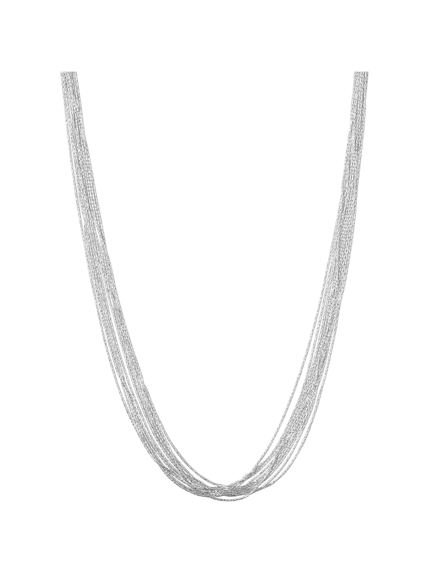 Silk 10 row necklace 45cm
