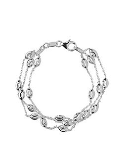 Beaded Chain 3 Row Bracelet -S