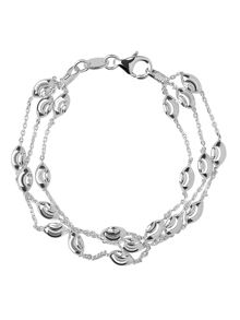 Links of London Beaded chain 3 row bracelet-M