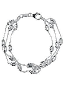 Links of London Beaded Chain 3 Row Bracelet-L