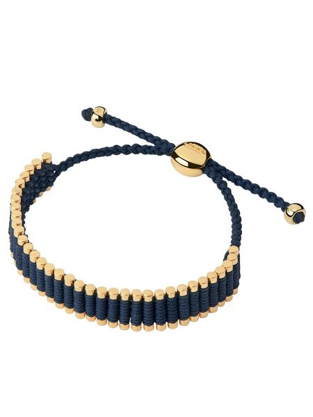 Links of London Yellow Gold Navy Friendship Bracelet