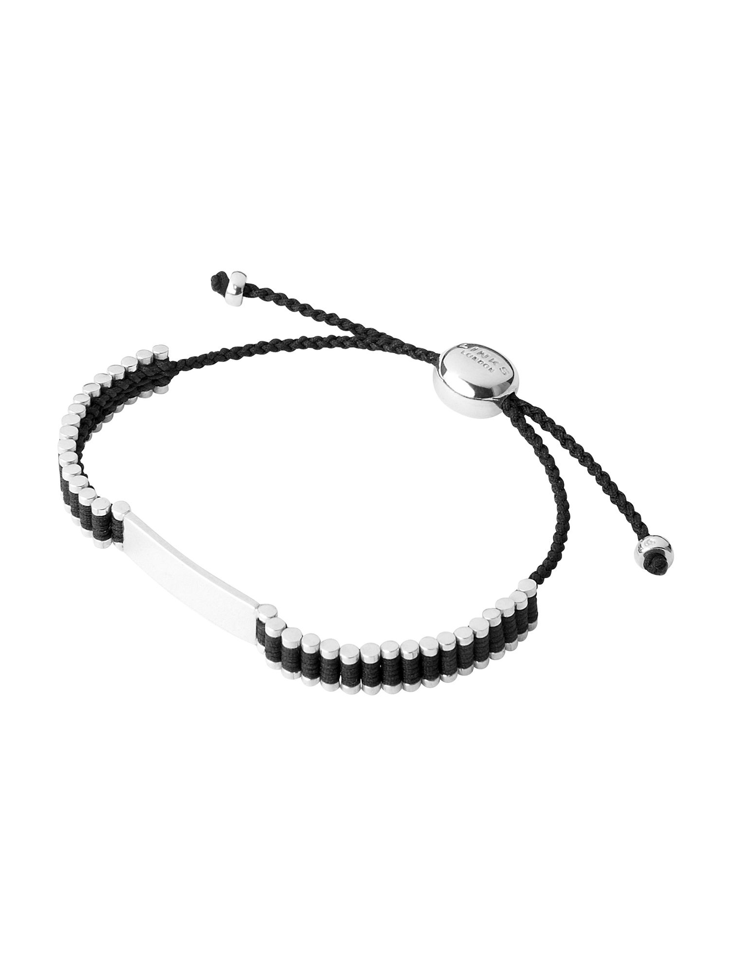 Friendship id bracelet black