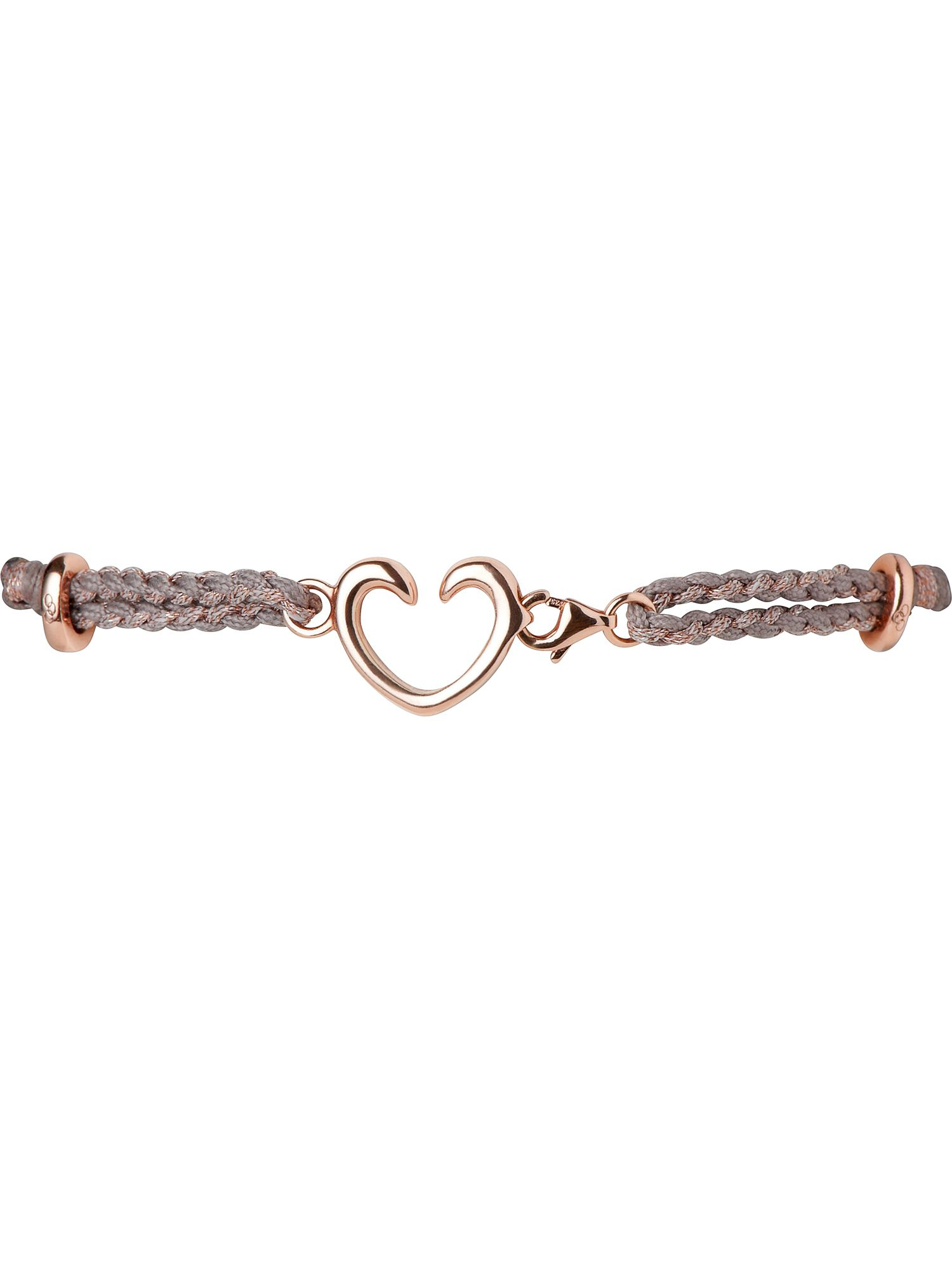 Charm catcher heart bracelet rose gold & copper