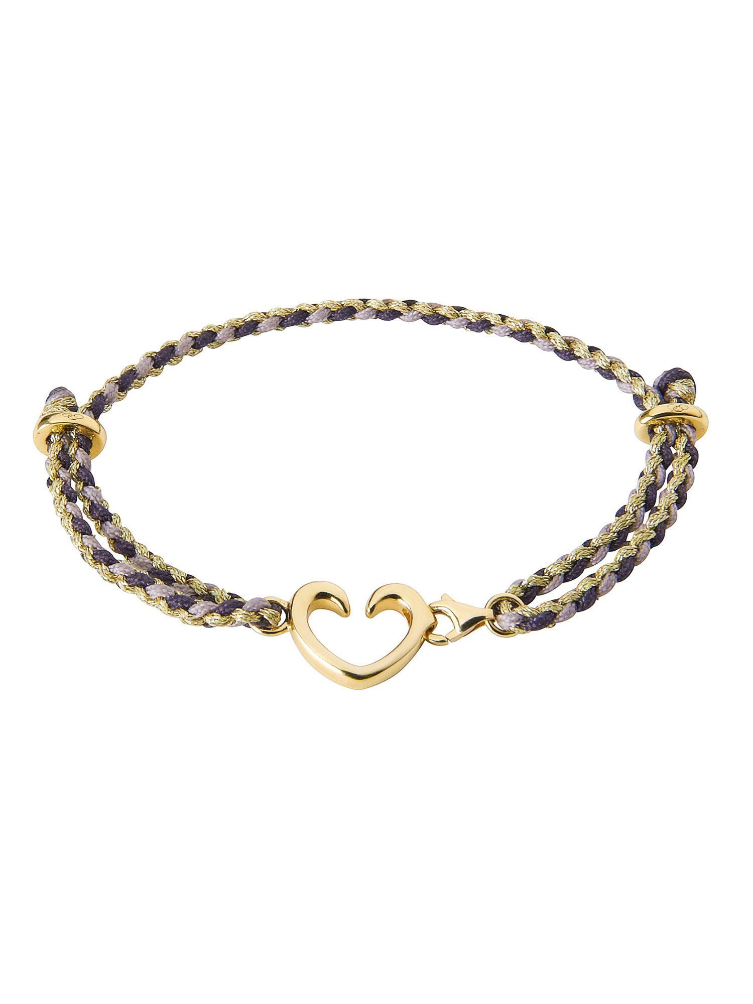 Charm catcher horseshoe bracelet yellow gold verm