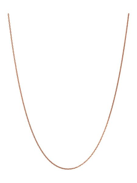 Links of London Rose Gold Vermeil Diamond Cut Chain