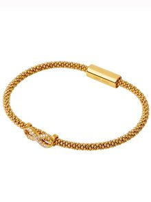 Star dust infinity yellow gold pave bracelet