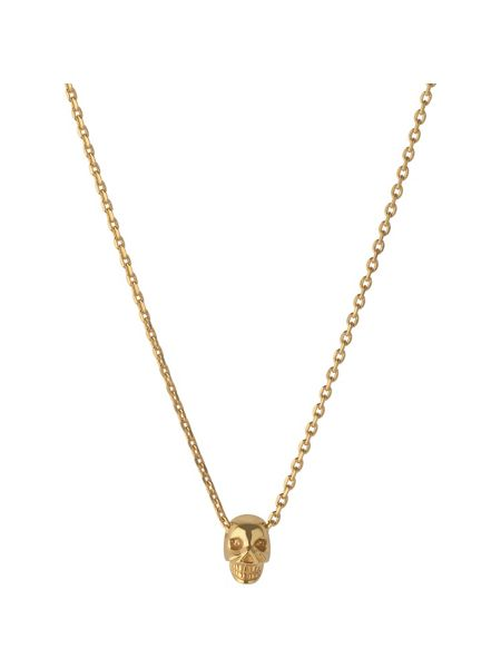 Links of London Yellow gold vermeil mini skull pendant