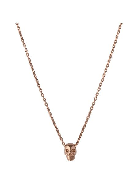 Links of London Rose gold vermeil mini skull pendant
