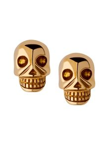 Yellow gold vermeil mini skull stud earrings