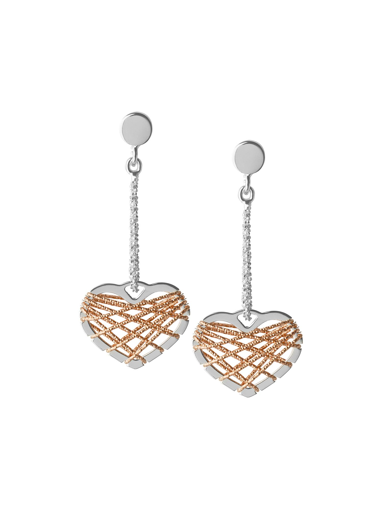links of london dream catcher heart rose gold earrings