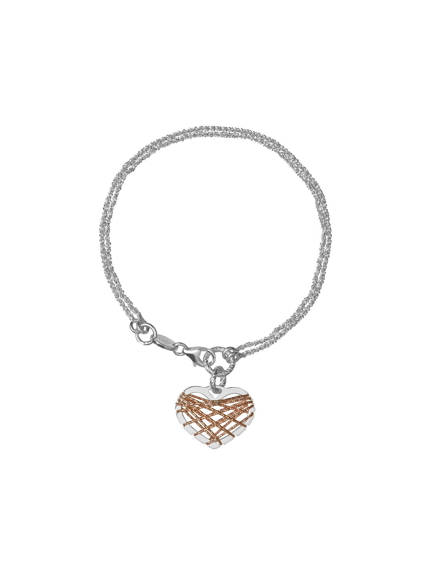 Dream catcher heart rose gold bracelet