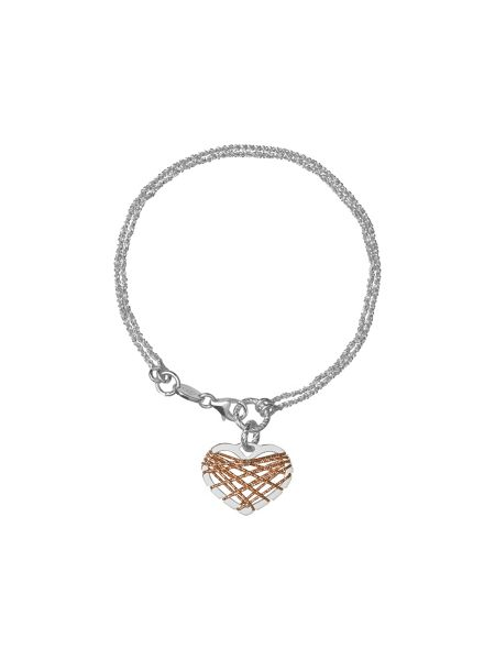 Links of London Dream catcher heart rose gold bracelet