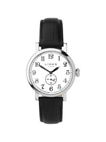 Greenwich Dial Black Strap Watch