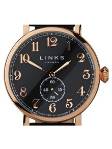Links of London Greenwich Brown Strap Watch