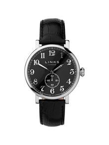 Greenwich Black Dial Black Strap Watch