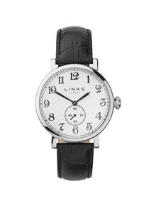 Links of London Greenwich Dial Black Strap Watch