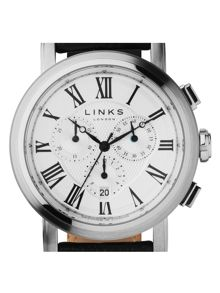 Links of London Richmond Black Strap Chronograph