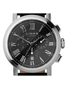 Links of London Richmond Black Dial Chronograph
