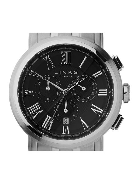 Links of London Richmond Black Dial Chronograph Watch
