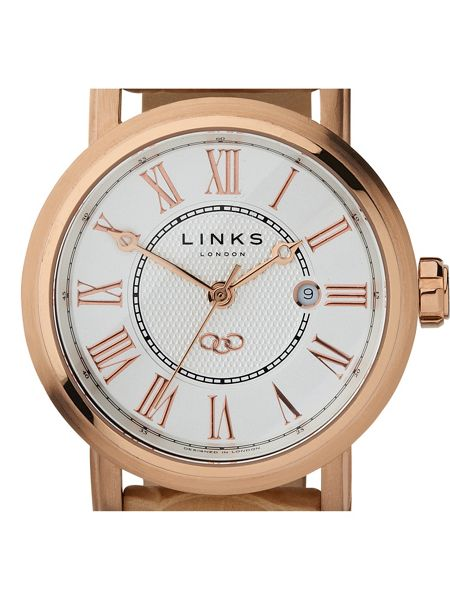 Links of London Richmond Rose Gold Watch with White Dial