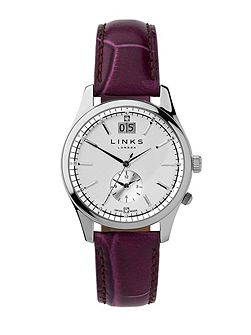 Regent Silver Dial Purple Strap Watch
