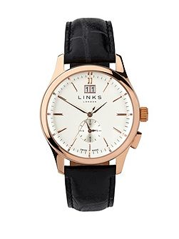 Regent Black Strap Watch