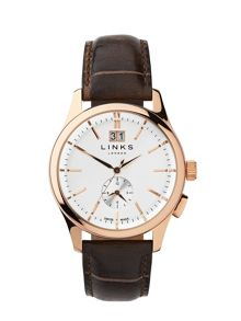 Links of London Regent Chocolate Leather Strap Watch