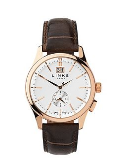 Regent Chocolate Leather Strap Watch