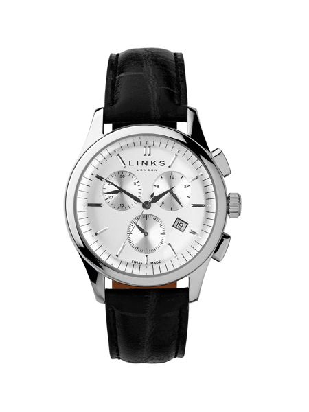 Links of London Regent Black Strap Chronograph Watch