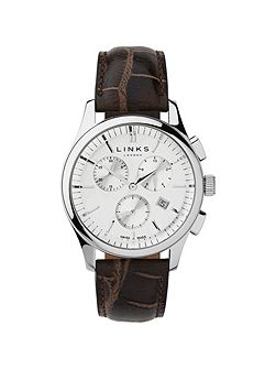 Regent Brown Strap Chronograph Watch