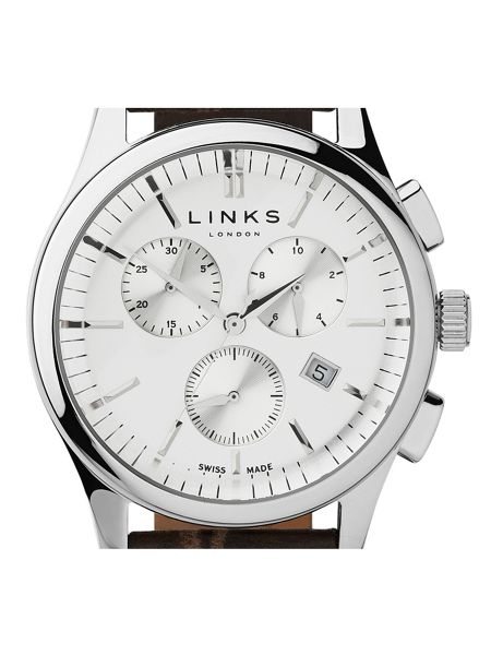 Links of London Regent Brown Strap Chronograph Watch