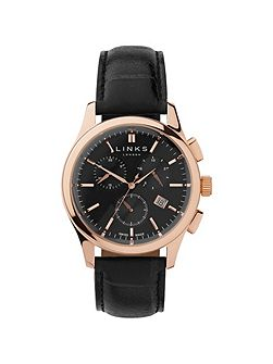 Regent Black Dial Chronograph Watch