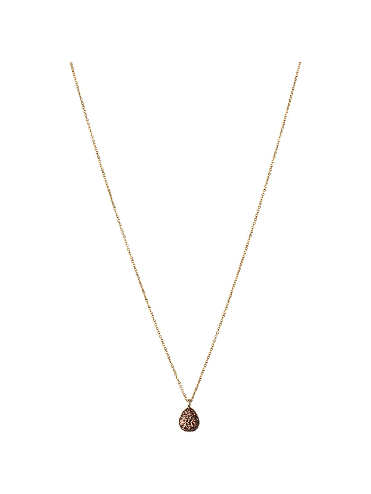 Links of London Hope 18ct Gold & Cognac Diamond Necklace, N/A