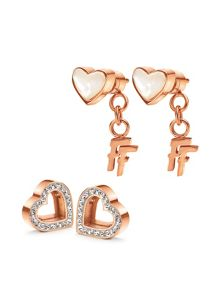 Folli Follie Playful Hearts Earrings
