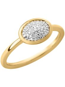 Links of London Diamond essentials gold vermeil ring